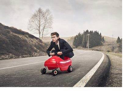 man-toy-car