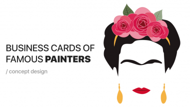 artists business cards cover
